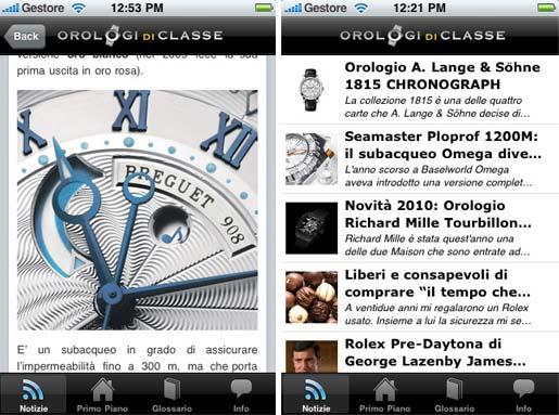orologi di classe Orologi di Classe ora è anche un app per iPhone