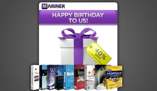 mariner1 Mariner Software festeggia i suoi 20 anni di attività con il 40% di sconto su tutte le applicazioni