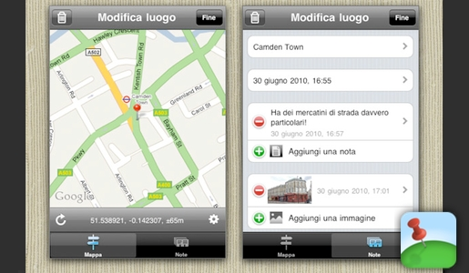 myplaces MyPlaces, i tuoi posti preferiti sempre nelliPhone