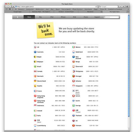 ppstoreoffline Apple Store offline, sorprese in arrivo?