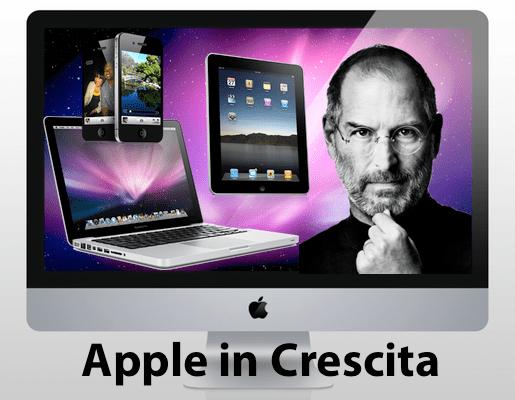 prodottiapple Apple in costante crescita, mentre i concorrenti rallentano.