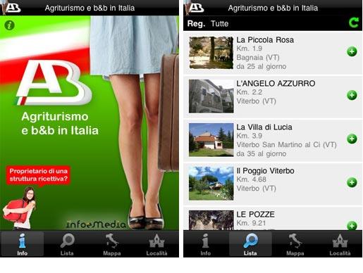aebb Agriturismo e B&B in Italia arriva su iPhone