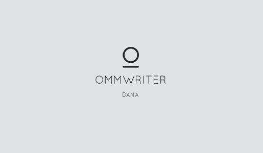 ommwriter dana Ommwriter aggiornato alla versione Dana