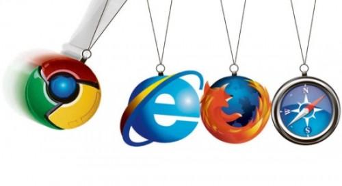 browser 001 500x272 Google Chrome continua a crescere a ritmi elevati, Safari Firefox IE9 e Opera perdono qualcosa