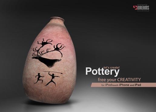 pottery1 Creare artistici vasi in ceramica senza sporcarsi le mani? Oggi si può, grazie a Lets Create! Pottery per iPhone e iPad