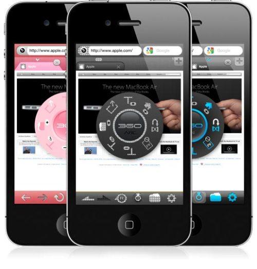 360 1 500x524 360 Web Browser: unalternativa originale e completa a Safari su iPhone