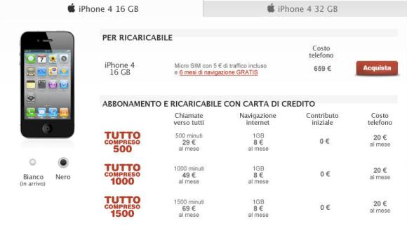Tim tutto compreso privati 580x322 Inchiesta iPhone 4: Prezzi e tariffe degli operatori a confronto