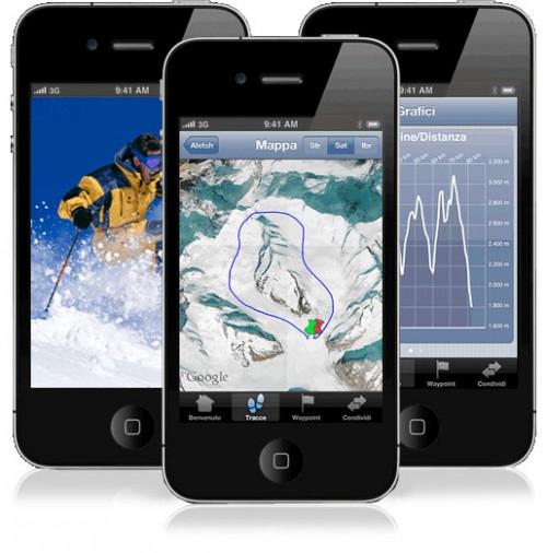 et1 500x506 EasyTrails GPS, unapp per iPhone pensata per chi ama gli sport invernali