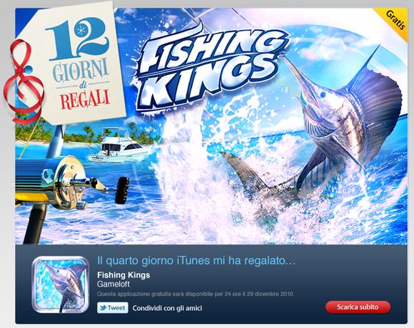 %name iTunes 12 giorni di regali rende gratuito Fishing Kings