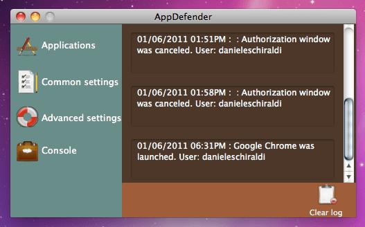 Schermata 2011 01 06 a 18.38.20 Proteggi le tue applicazioni con AppDefender