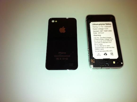 battery Prova di una copia delliPhone 4 made in China