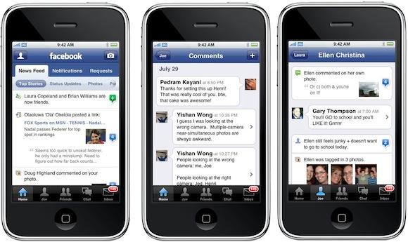facebook3 Sempre più utenti utilizzano Facebook per iPhone