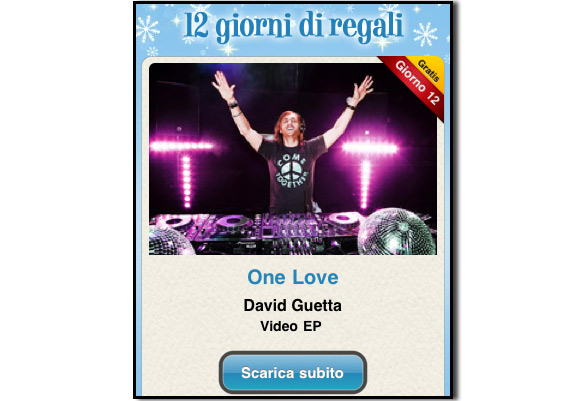 guetta Ultimo giorno di download gratuiti con 12 giorni di regali: si conclude con One Love di David Guetta