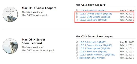 ha1 Una nuova build di Mac OS X 10.6.7 è stata inviata agli sviluppatori