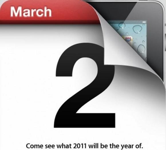Apple confims 2 March iPad 2 media event 550x497 iPad 2: nuove anticipazioni sulla presentazione di questa sera