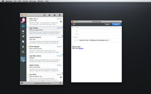 sparrow1 Sparrow, il client e mail per Mac che si ispirava a Tweetie