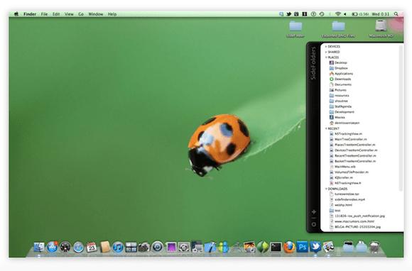 screen capture3 SideFolders, tutto il vostro Mac a portata di mouse