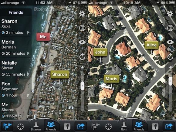 FOOTPRINT2ND Localizza amici e familiari con Footprints
