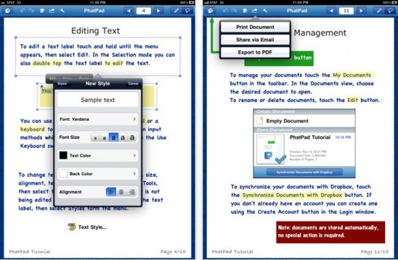 PhatPad 4 580x379 PhatPad: Annotare appunti e fare brainstorming su iPad