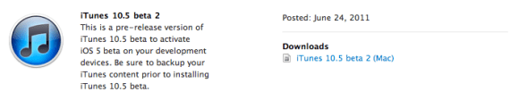 Schermata 2011 06 25 a 00.06.16 580x112 Rilasciato da Apple iTunes 10.5 beta 2
