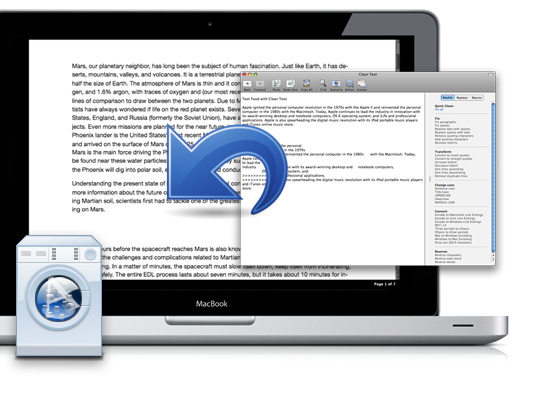 cleantext Clean Text: Applicazione semplice ma molto utile per lavorare e ripulire il testo