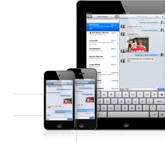 features imessage 580x498 WWDC: scopriamo la nuova applicazione iMessage introdotta con iOS 5