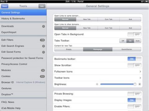 icabmobilewebbrowser ipad iCab Mobile: browser per iOS con molte funzioni