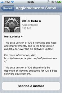IMG 02031 L'iOS 5 beta 4 rende possibile per la prima volta l'aggiornamento del firmware attraverso OTA
