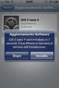 IMG 02101 L'iOS 5 beta 4 rende possibile per la prima volta l'aggiornamento del firmware attraverso OTA
