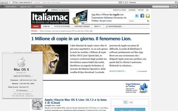 Schermata Lion 580x362 Proviamo Mac OS X Lion: Prove tecniche di ruggito.