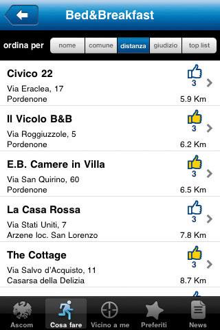 Screenshot3 Guida Pordenone Provincia Ospitale: è la nuova applicazione per iPhone