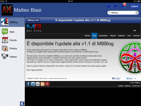 foto copia 6 580x435 Segui gli aggiornamenti di Facebook su iPad con Facemobile