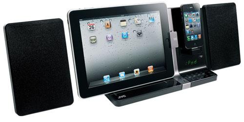 jvcux JVC UX VJ3: La Dock Station simultanea per iPad ed iPhone!