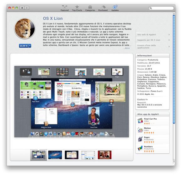 lionmas Il leone è libero: Benvenuto Mac OS X Lion