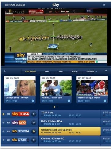 CapturFiles 13 Sky Go, un applicazione iPad per vedere Sky