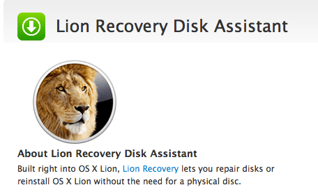 Schermata 08 2455783 alle 15.55.12 Apple rilascia Lion Recovery Disk Assistant