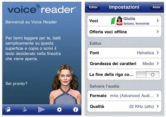 Voice reader Recensione: Voice Reader per iOS, lapp che legge i nostri testi