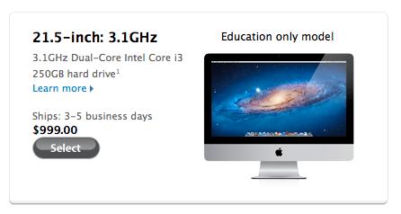 appleedu Apple lancia un nuovo iMac a 999 dollari