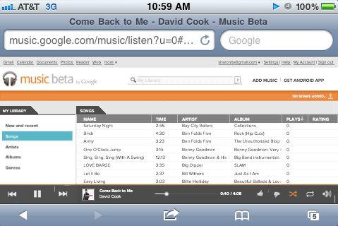 Cattura4 Google rilascia la Web App Musica Beta per iOS