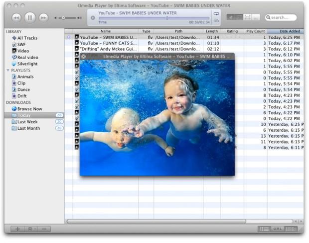 elmedia 620x489 Elmedia Player, gestisci e riproduci i tuoi video in stile iTunes