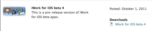 CapturFiles 11 iWork Beta 4 per iOS è disponibile per gli sviluppatori