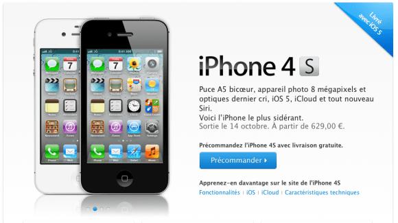 Schermata 10 2455842 alle 12.21.43 580x325 Iniziano i pre ordini delliPhone 4S, tranne in Italia