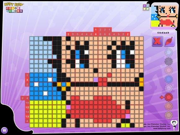 betty2 580x435 Uscito il gioco Betty Boop Color Cross su iPhone, iPad e Mac