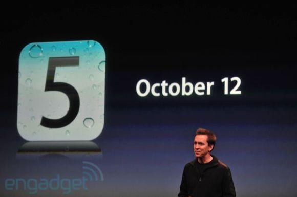 iphone5apple2011liveblogkeynote1293 580x385 iOS 5 ed iCloud saranno disponibili per tutti a partire dal 12 Ottobre