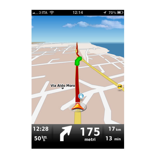 nav2 Recensione del navigatore per iOS Dynavix Europa Occidentale, migliaia di strade in tasca