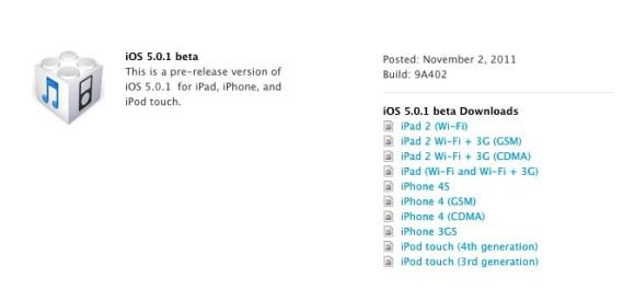 Schermata 11 2455869 alle 15.10.24 580x275 Apple rilascia iOS 5.0.1 Beta agli sviluppatori