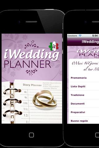 iwed iWeddingPlanner, pianifica il tuo matrimonio sulliPhone