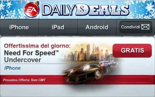 undercover italiamac EA regala Need for Speed Undercover