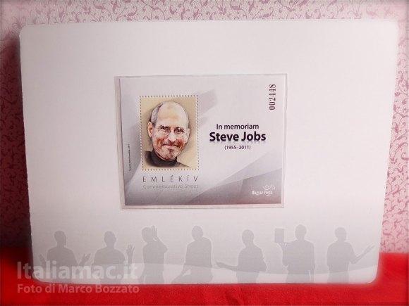 DSCF4296 580x435 Le foto dal vero del francobollo commemorativo di Steve Jobs della Magyar Posta, il servizio postale ungherese