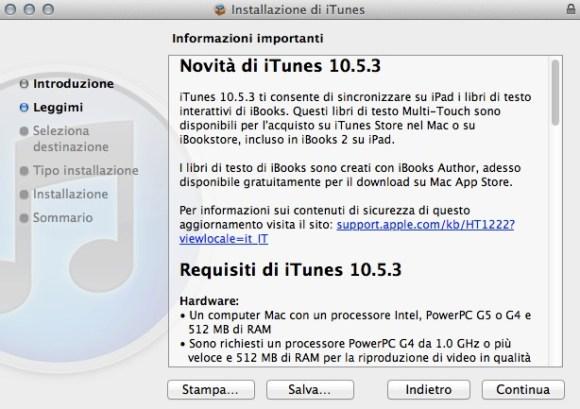 Schermata 01 2455946 alle 19.03.10 580x409 Apple ha rilasciato iTunes 10.5.3